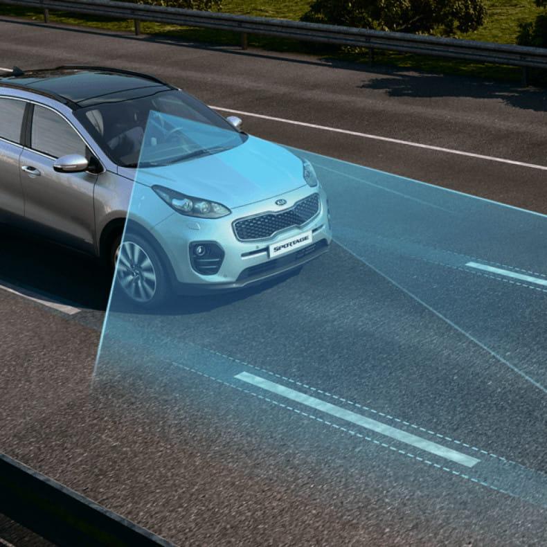 Система удержания автомобиля в полосе (LKA)