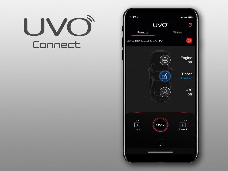 Услуги в приложении UVO
