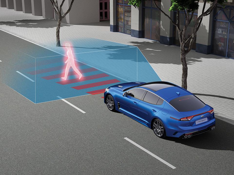 Автономная тормозная система с системой помощи при левом повороте