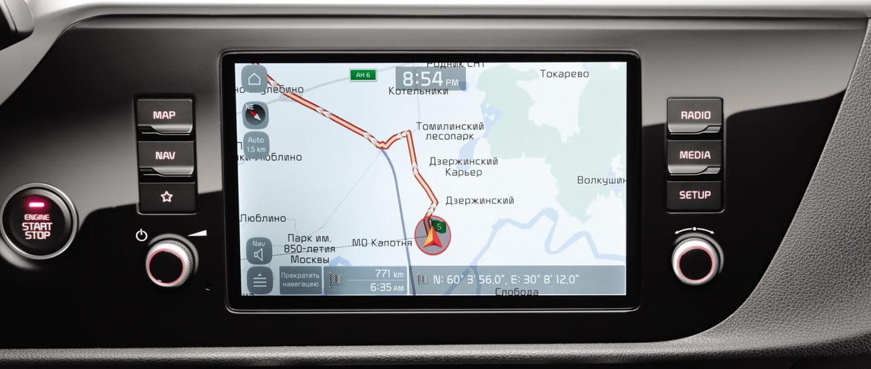 Навигационная система с 8'' дисплеем