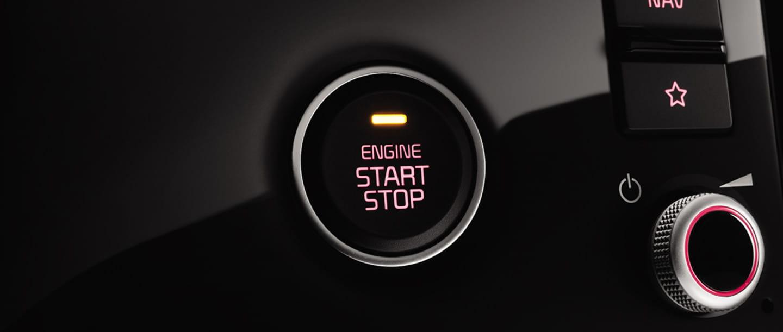 Кнопка бесключевого пуска двигателя