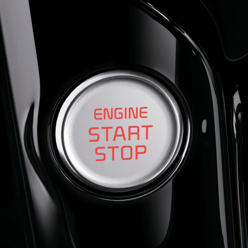 Buton de pornire și sistem de introducere fără cheie